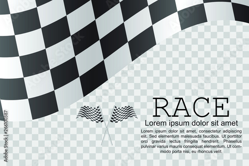Wall Murals F1 Race flag background vector illustration