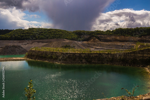 Photo  Old marl quarry in Maastricht which is converted into a public park with natural