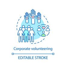 Corporate Volunteering Concept Icon