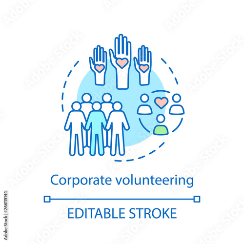 Canvas Print Corporate volunteering concept icon