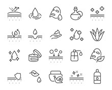 Set Of Skin Icons, Such As Alo...