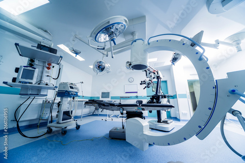 Canvas Print Modern equipment in operating room