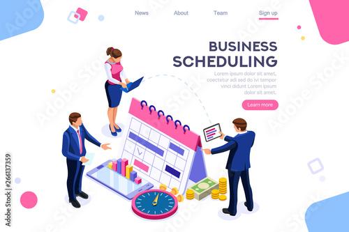 Business tasks schedule week Canvas Print
