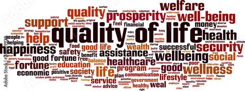 Quality of life word cloud Obraz na płótnie