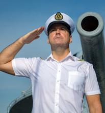 A Navy Officer Standing Under ...