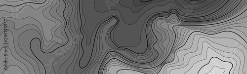 Foto auf AluDibond Rosa dunkel Map line of topography. Vector abstract topographic map concept with space for your copy. Black and white wave. Abstract paper cut. Abstract colorful waves. Wavy banners. Color geometric form.