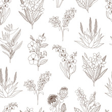 Vector Seamless Pattern Of Tro...