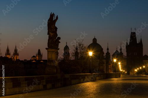 Foto op Aluminium London Charles bridge at Sunrise, Prague, Czech Republic