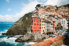 Classic View Of Riomaggiore, Cinque Terre, Italy
