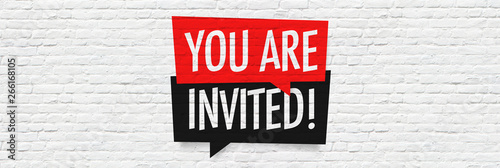 Obraz You are invited ! - fototapety do salonu