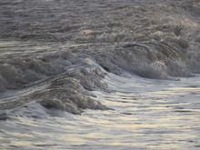 Splashing Waves In Galveston, Texas