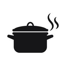 Pot Icon Isolated Vector Illus...