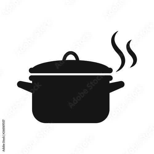 Pot icon isolated vector illustration Fototapet