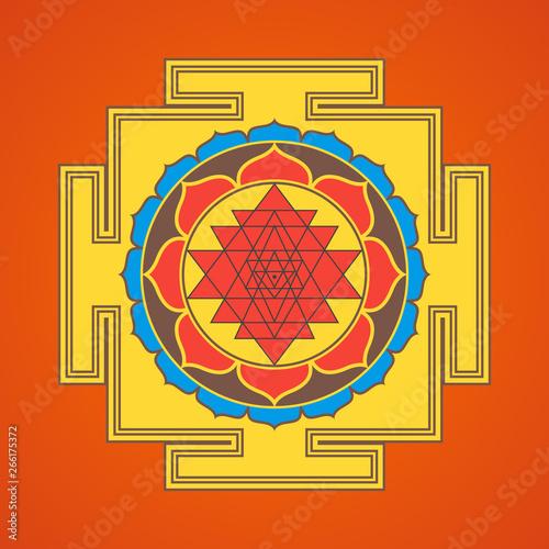 hinduism yantra sacred geometry mandala. Wallpaper Mural