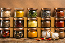 Large Collection Of Spices In ...