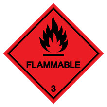 Flammable Symbol Sign ,Vector ...