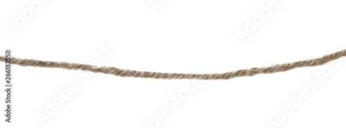 Fotografie, Obraz Rope isolated on white background and texture, with clipping path