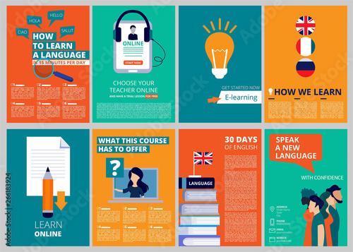 Obraz na plátně  Education brochure covers