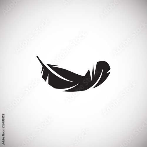 Fotomural Feather icon on background for graphic and web design