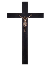 Old Wooden Crucifix With Chris...