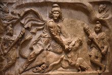 Marble Relief Carving Of The G...