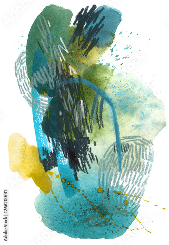 Watercolor abstract drawing...