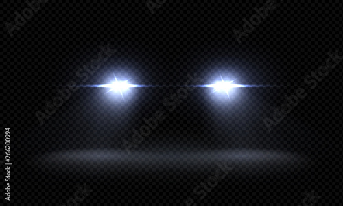 Fotografía  Realistic car headlights