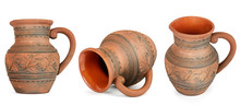 Collection Clay Jugs From Diff...