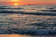 sunrise on the sea coast, sunset on the sea