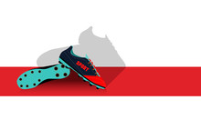Footbal Boots. Soccer Boots. Active Sports. Vector Illustration.