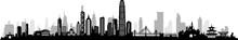 HongKong City Skyline Vector