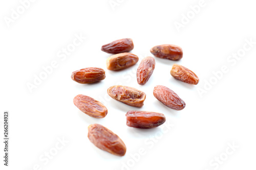 Vászonkép  Creative layout made of dried date isolated on white background