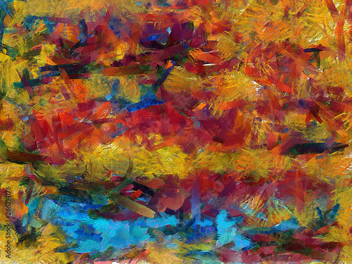 Oil painting abstraction for creating interior design wall art prints or decorate textile and fabric production Wallpaper Mural
