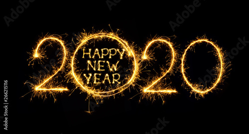 Fotografie, Obraz  Happy New Year 2020