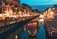 Naviglio Grande Canal At The E...
