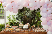 Table With Sweets, Desserts An...