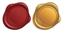 Wax Seal Stamp, Red And Golden...