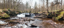 Brecon Beacon Waterfall At Early Spring
