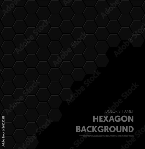 Fototapety, obrazy: Abstract geometric hexagon shape pattern background