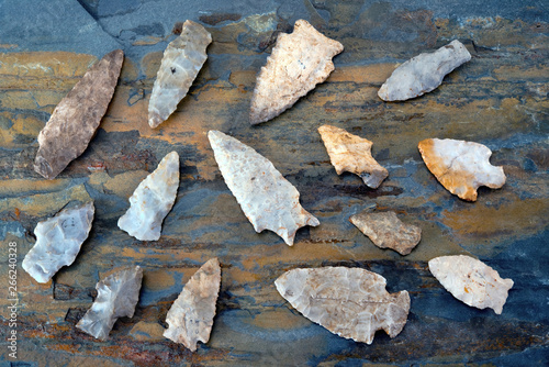 Photo Real American Indian Arrowheads found in East Texas.