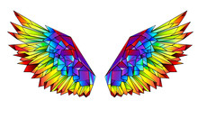 Rainbow Polygonal Wings