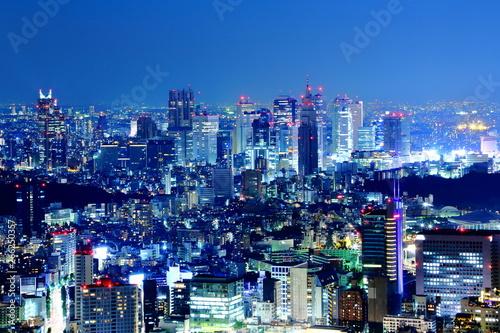 Poster Tokyo 東京の都市風景 夜景・都市・都会・ビル