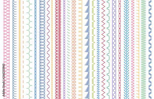 Fotomural Sewing seams patterns