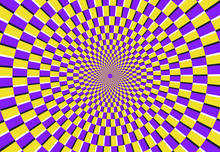 Optical Spiral Illusion. Magic...