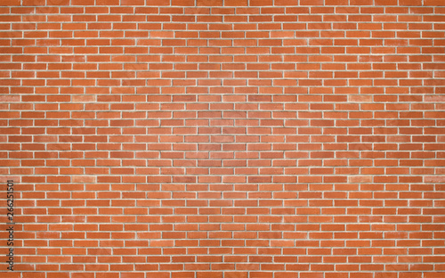 Fond de hotte en verre imprimé Brick wall Red color brick wall for brickwork background design .