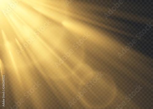 Obraz Vector transparent sunlight special lens flash light effect.front sun lens flash. Vector blur in the light of radiance. Element of decor. - fototapety do salonu