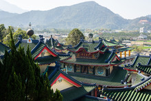 Colorful Palace Roofs In Baohu Dimu Temple