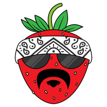 Cartoon Gangster Strawberry Ve...
