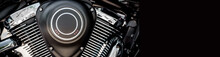 Motorcycle Engine Close-up Cro...
