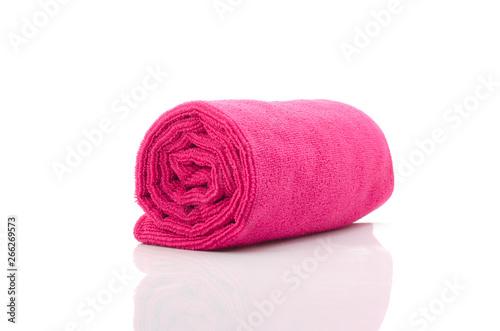 Soft towel isolated on white background. Fototapeta